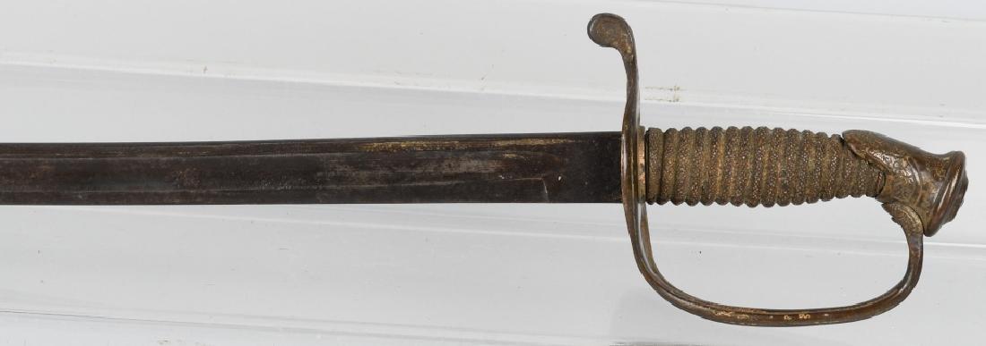 CIVIL WAR M 1850 FOOT OFFICERS SWORD - 7