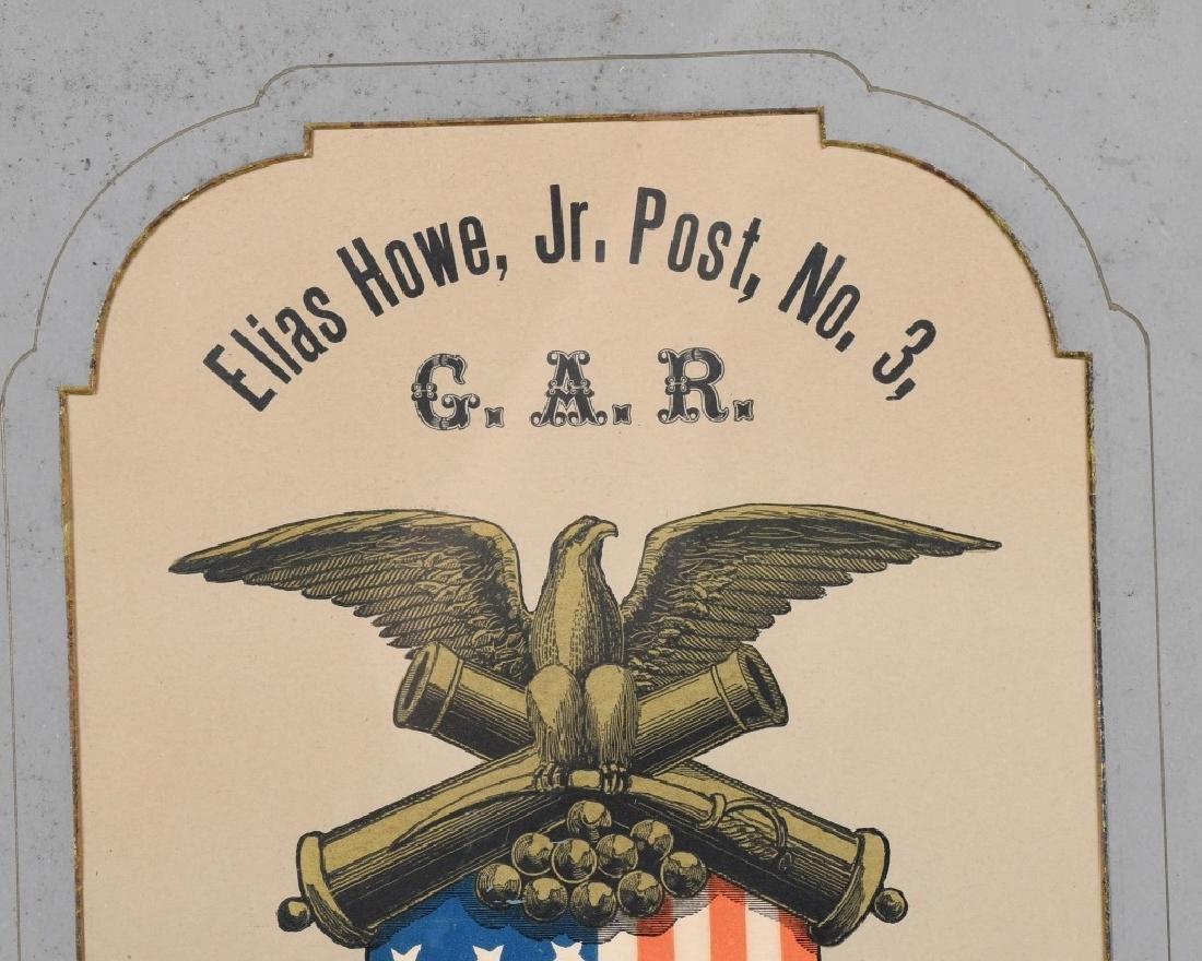 CIVIL WAR GAR CONNECTICUT MEMORIAL ELIAS HOWE POST - 2