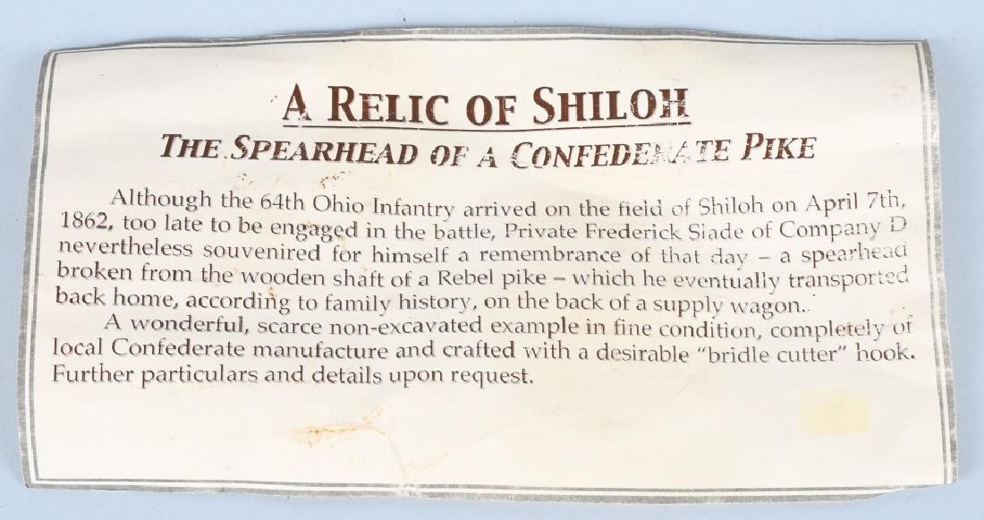 CIVIL WAR CONFEDERATE PIKE SPEARHEAD FROM SHILOH - 8