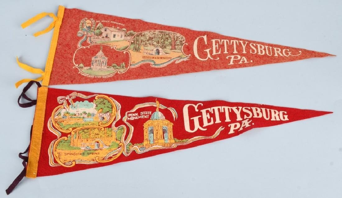 CIVIL WAR GETTYSBURG PENNANTS AND CONFEDERATE BANK - 2