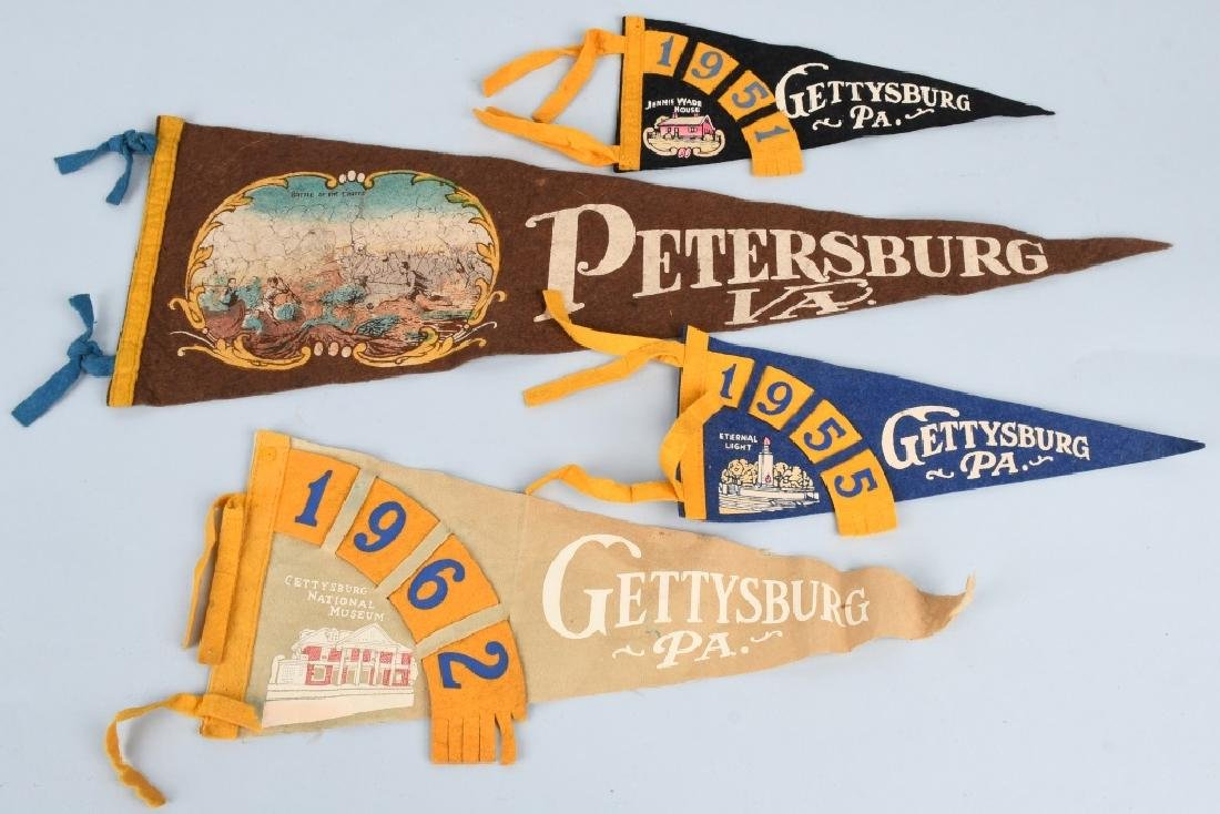 CIVIL WAR GETTYSBURG PENNANTS AND CONFEDERATE BANK - 5