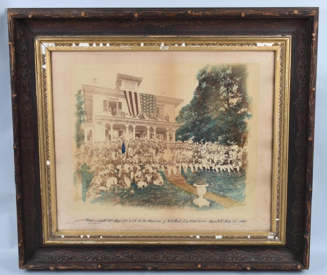 1869 OUTDOOR ALBUMEN 22ND REGT NEW YORK NG CO. B
