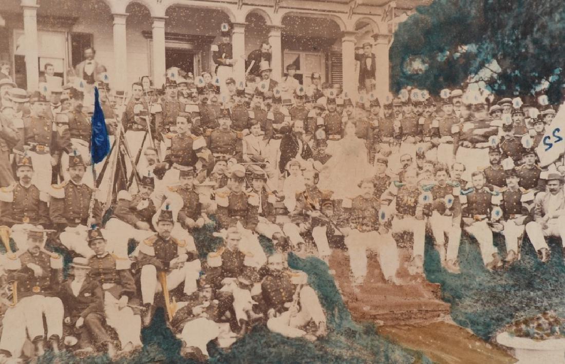 1869 OUTDOOR ALBUMEN 22ND REGT NEW YORK NG CO. B - 3