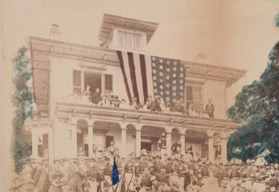 1869 OUTDOOR ALBUMEN 22ND REGT NEW YORK NG CO. B - 7