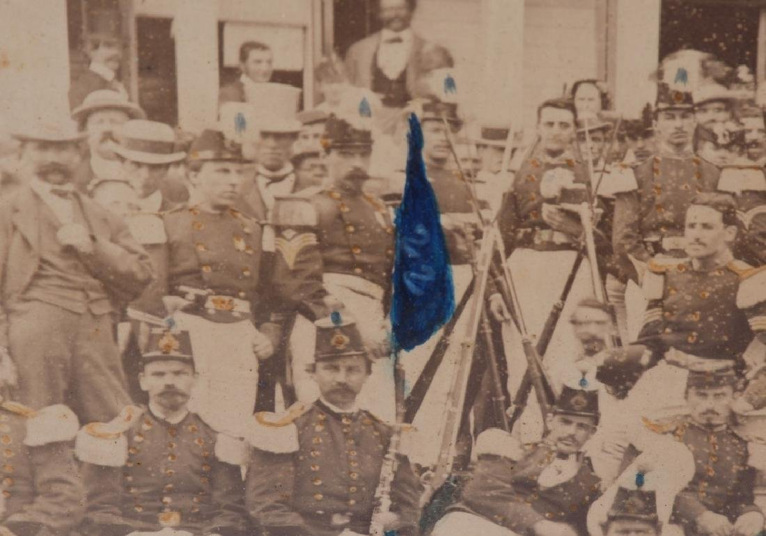 1869 OUTDOOR ALBUMEN 22ND REGT NEW YORK NG CO. B - 8