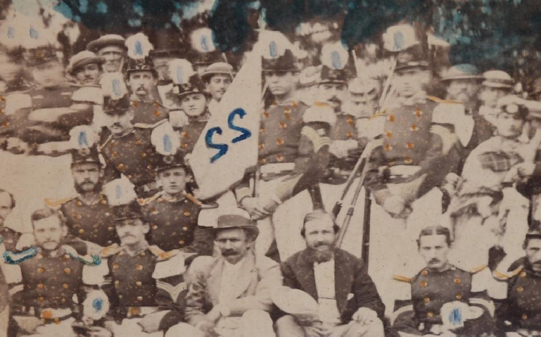 1869 OUTDOOR ALBUMEN 22ND REGT NEW YORK NG CO. B - 9