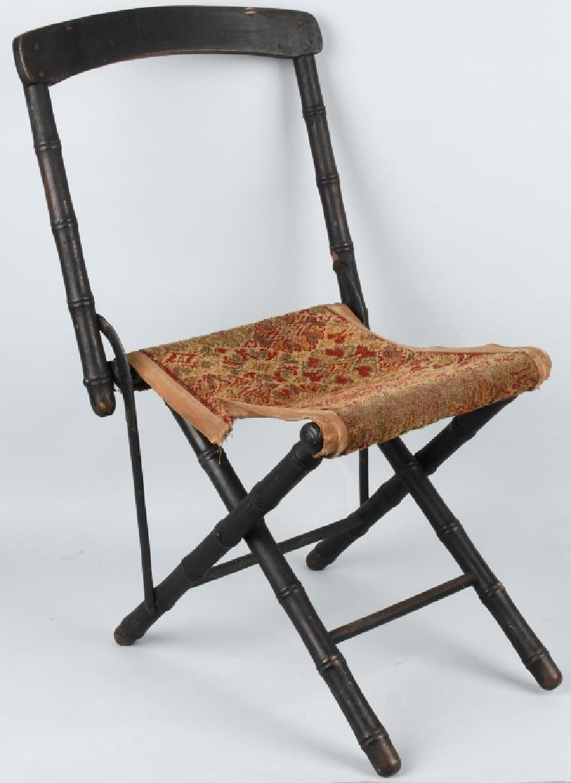 CIVIL WAR ERA FOLDING CAMP CHAIR