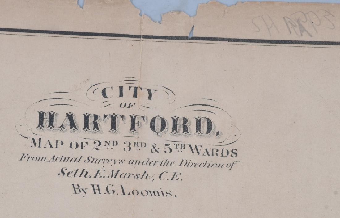 CIVIL WAR ERA MAP HARTFORD CT SHARPS RIFLE FACTORY - 6