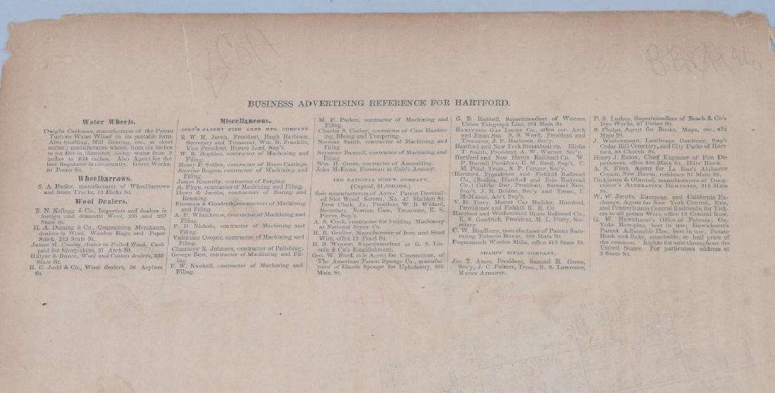 CIVIL WAR ERA MAP HARTFORD CT SHARPS RIFLE FACTORY - 8