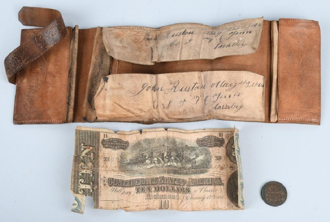 CIVIL WAR IDED 1ST EAST TENNESSEE CAVALRY WALLET - 4