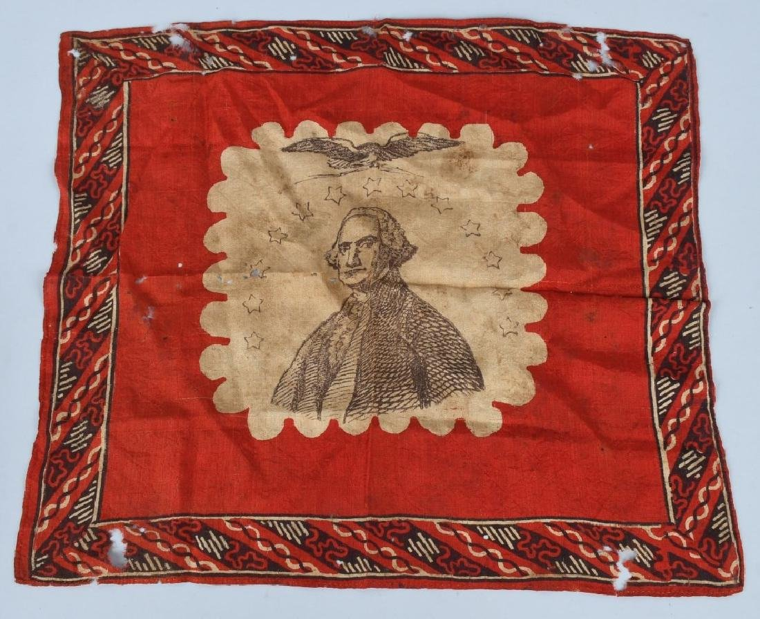 CIVIL WAR PATRIOTIC GEORGE WASHINGTON HANDKERCHIEF