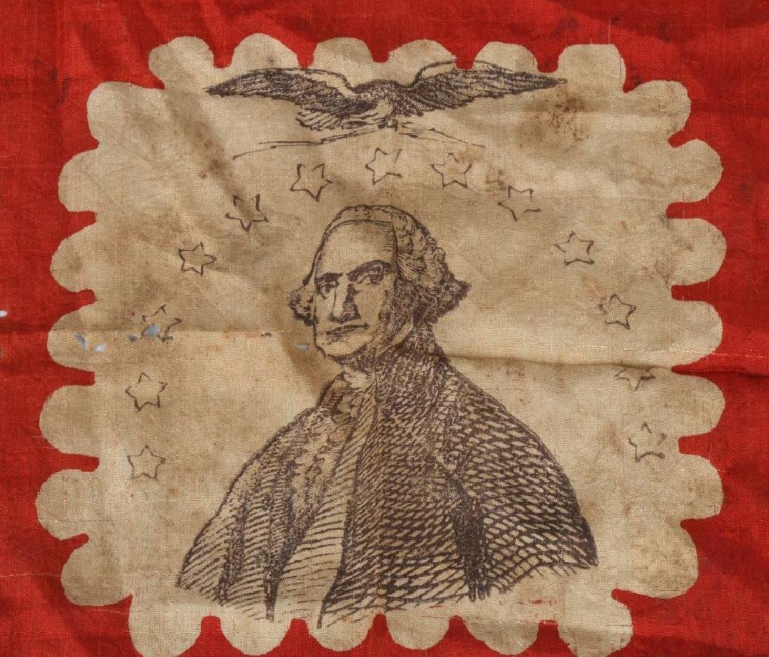 CIVIL WAR PATRIOTIC GEORGE WASHINGTON HANDKERCHIEF - 2