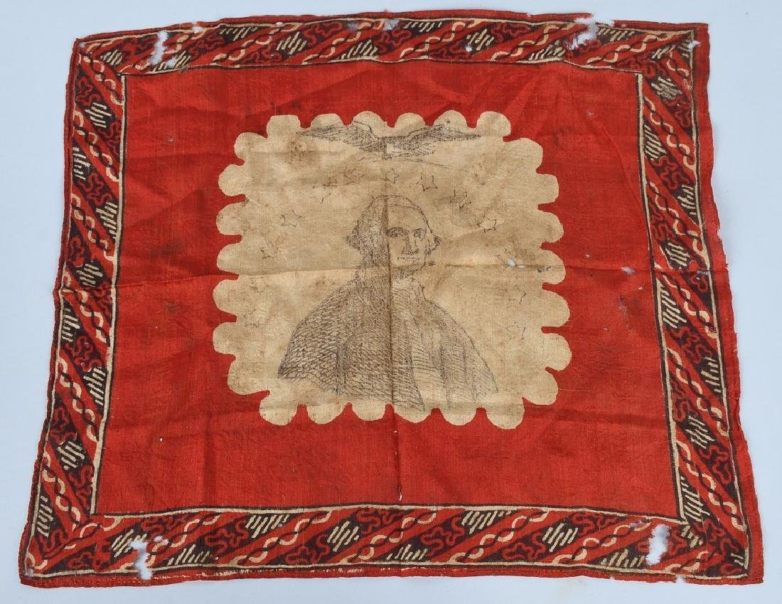 CIVIL WAR PATRIOTIC GEORGE WASHINGTON HANDKERCHIEF - 3