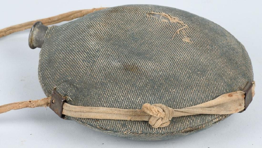 CIVIL WAR M 1858 SMOOTHSIDE CANTEEN BLUE COVER - 4