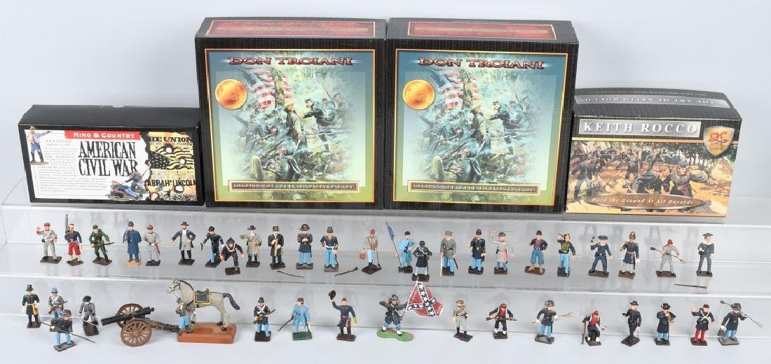 CIVIL WAR PAINTED SOLDIERS INCLUDING SETS