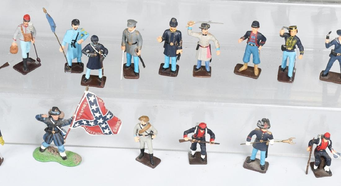 CIVIL WAR PAINTED SOLDIERS INCLUDING SETS - 4