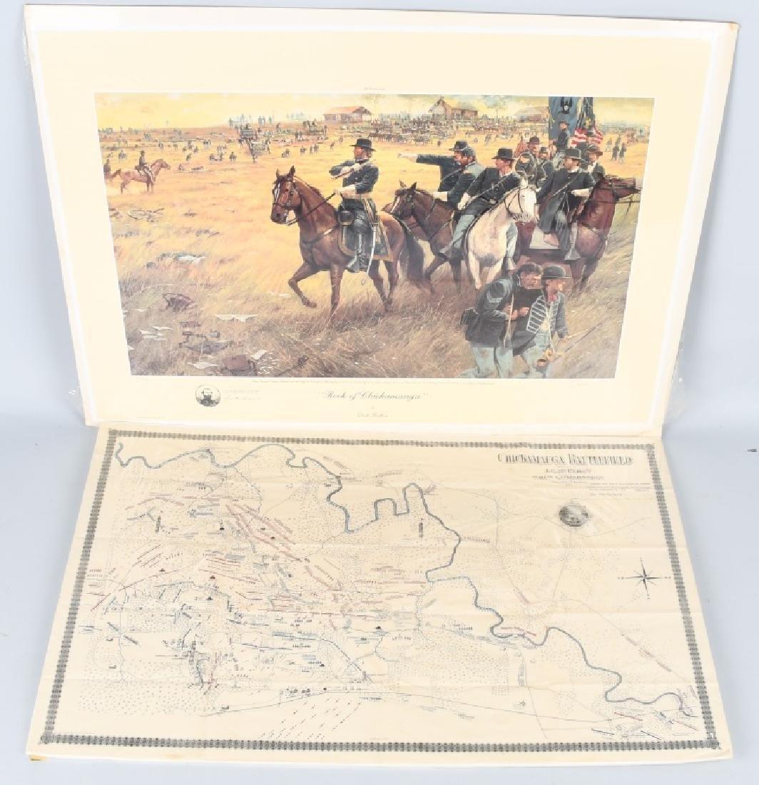CIVIL WAR 1895 MAP CHICKAMAUGA & DALE GALLON PRINT