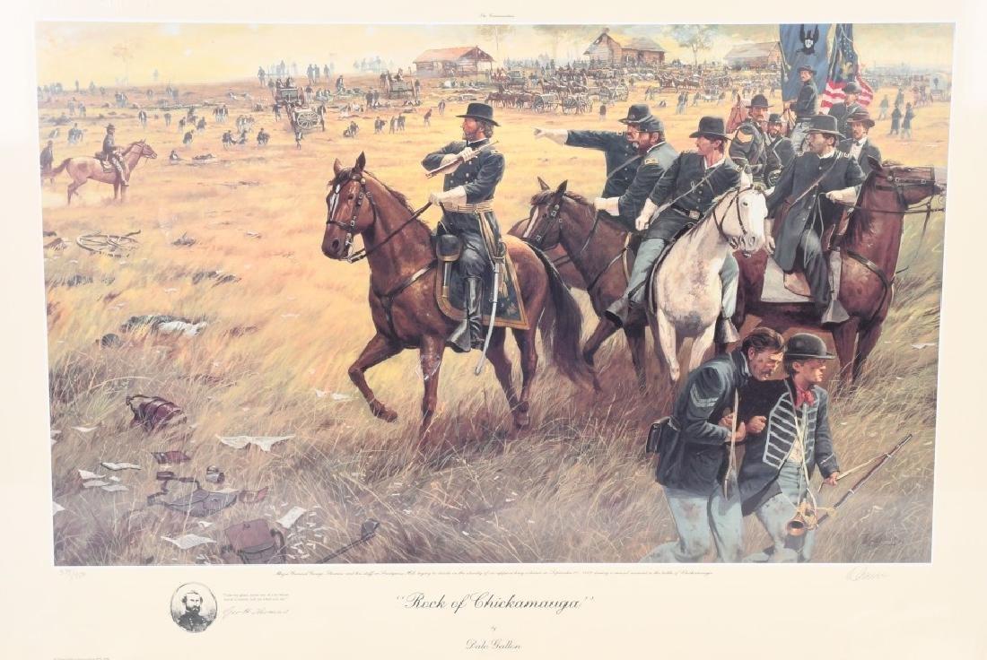 CIVIL WAR 1895 MAP CHICKAMAUGA & DALE GALLON PRINT - 2