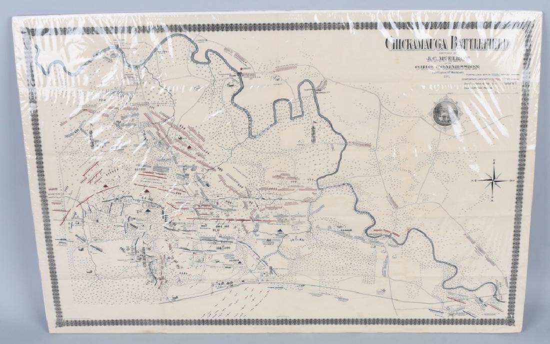 CIVIL WAR 1895 MAP CHICKAMAUGA & DALE GALLON PRINT - 5