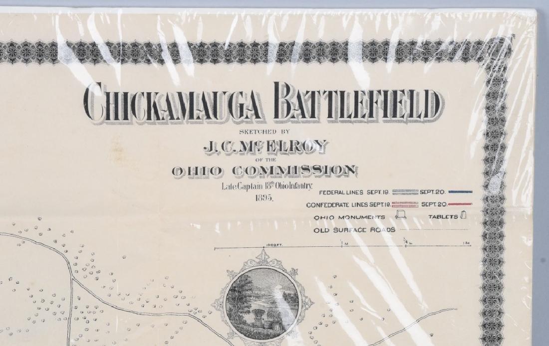 CIVIL WAR 1895 MAP CHICKAMAUGA & DALE GALLON PRINT - 6
