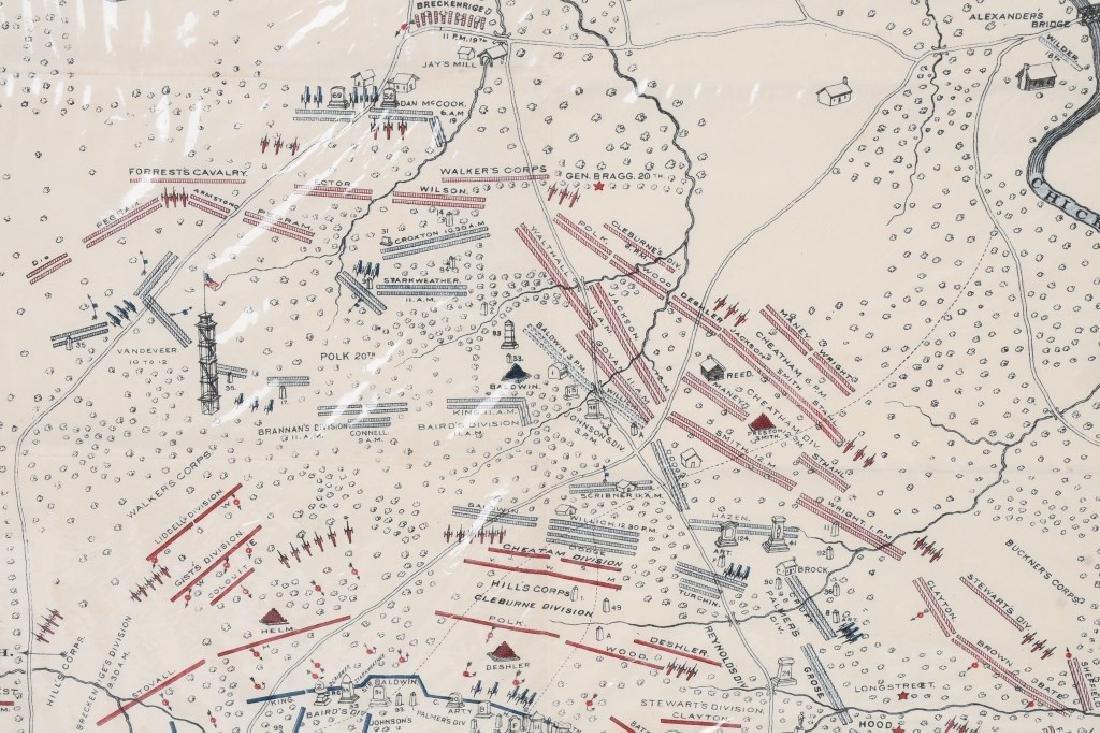 CIVIL WAR 1895 MAP CHICKAMAUGA & DALE GALLON PRINT - 7