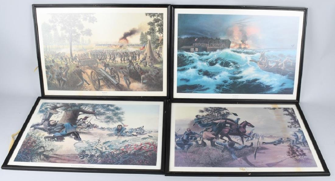CIVIL WAR JAMES THOMAS NEUMANN PRINT LOT (4)