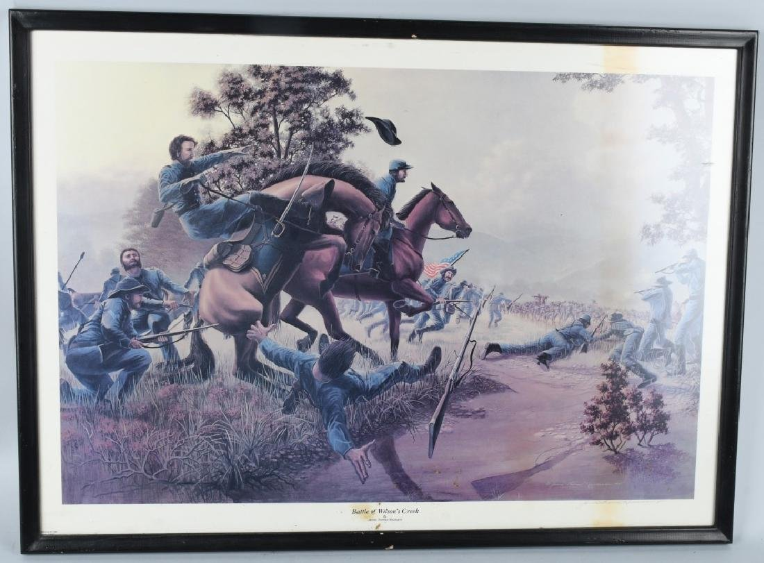 CIVIL WAR JAMES THOMAS NEUMANN PRINT LOT (4) - 6