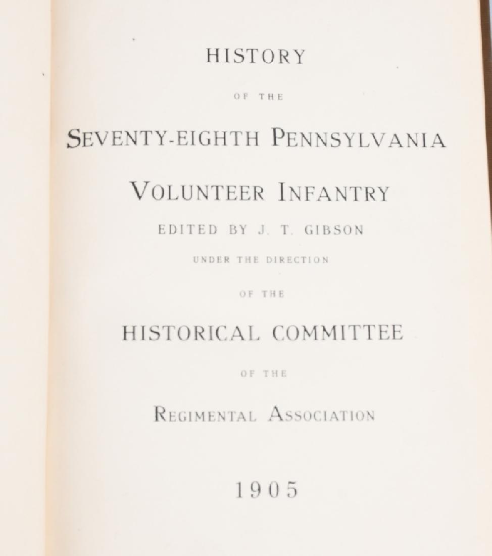 CIVIL WAR BOOK LOT INC. REGIMENTAL HISTORIES - 2