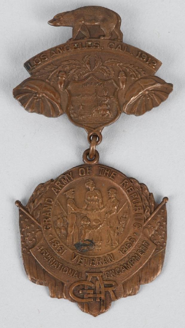 CIVIL WAR GAR NATIONAL ENCAMPMENT BADGES 1901 & 12 - 2