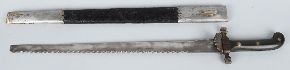 19th CENT. SAW BACK SHORT SWORD