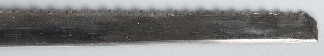 19th CENT. SAW BACK SHORT SWORD - 6