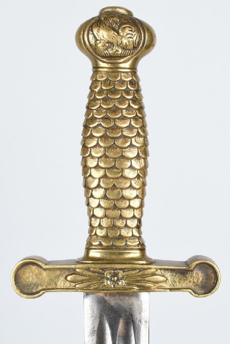 19th CENT. FRENCH ROOSTER POMMEL SHORT SWORD - 2