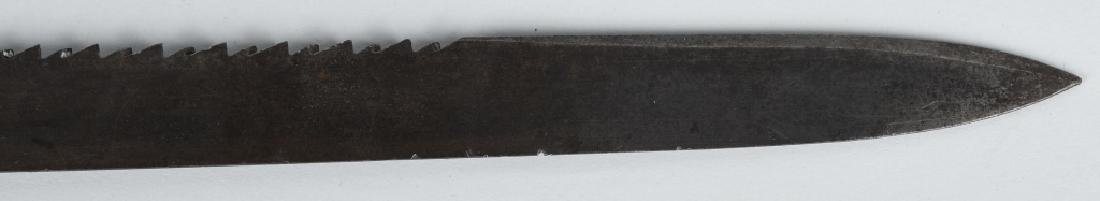 19th CENT. FRENCH SAW BACK SORT SWORD - 7