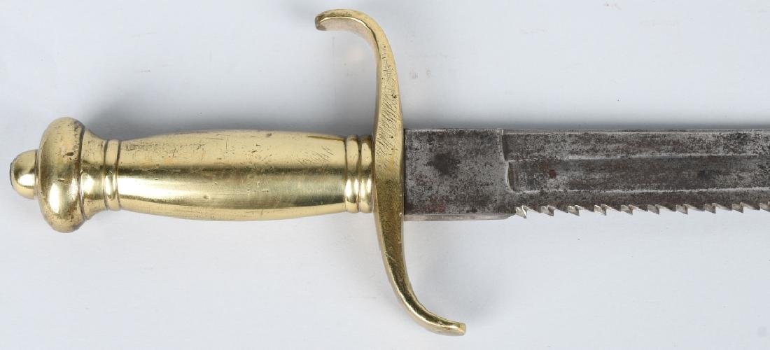 19th CENT. GERMAN SAW BACK SHORT SWORD - 8