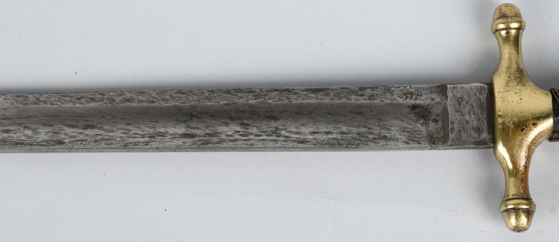19th CENT. EUROPEAN HUNTING SHORT SWORD - 3