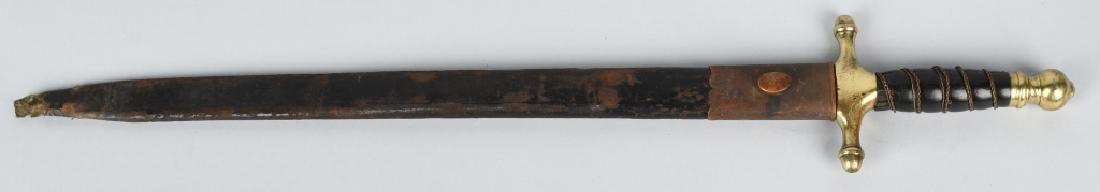 19th CENT. EUROPEAN HUNTING SHORT SWORD - 8