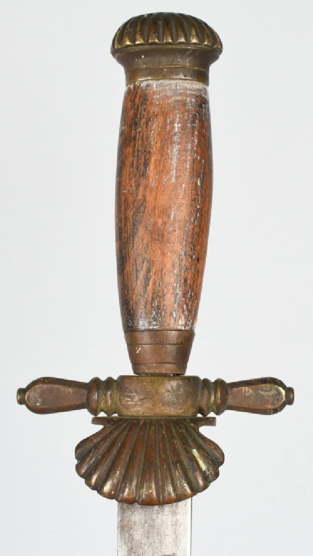 19th CENT. GERMAN SAW BACK HUNTING SHORT SWORD