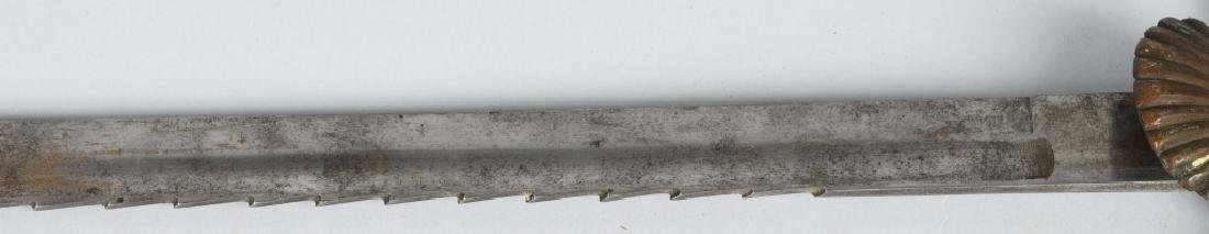 19th CENT. GERMAN SAW BACK HUNTING SHORT SWORD - 4