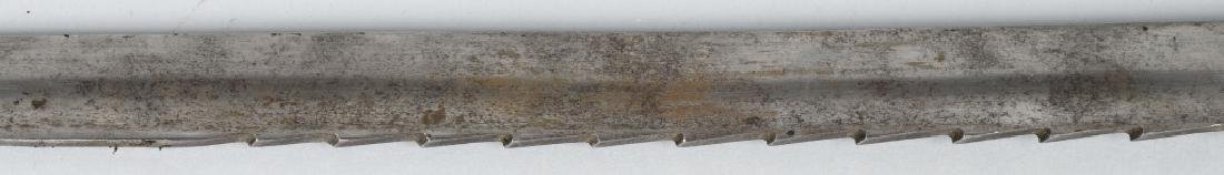 19th CENT. GERMAN SAW BACK HUNTING SHORT SWORD - 5