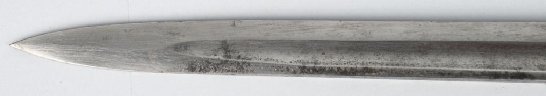 19th CENT. GERMAN LION HEAD ARTILLERY SHORT SWORD - 10