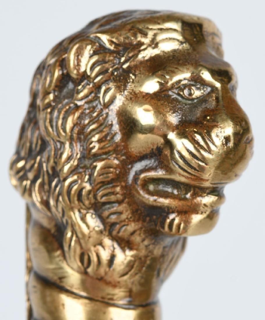 19th CENT. GERMAN LION HEAD ARTILLERY SHORT SWORD - 4