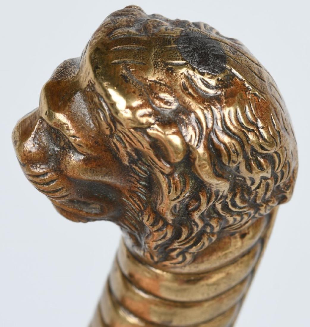 19th CENT. GERMAN LION HEAD ARTILLERY SHORT SWORD - 5