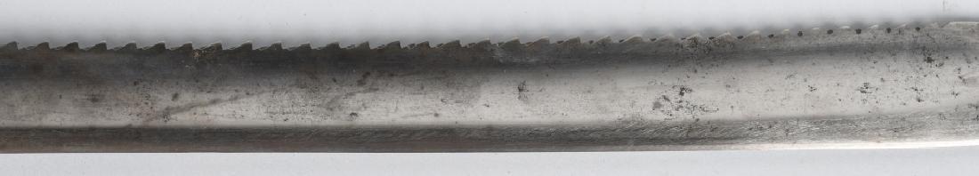 19th CENT. GERMAN SAW BACK SHORT SWORD, 1869 - 11