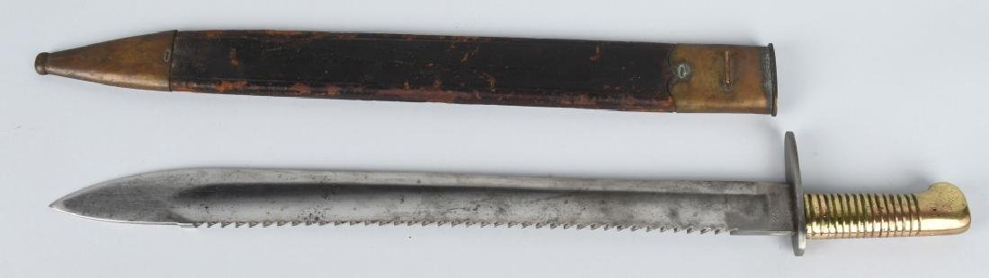 19th CENT. GERMAN SAW BACK SHORT SWORD, 1869