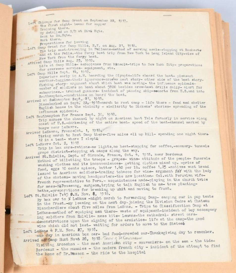 WWI 86TH DIV 333 MG BAT SCRAP BOOK YARD LONG