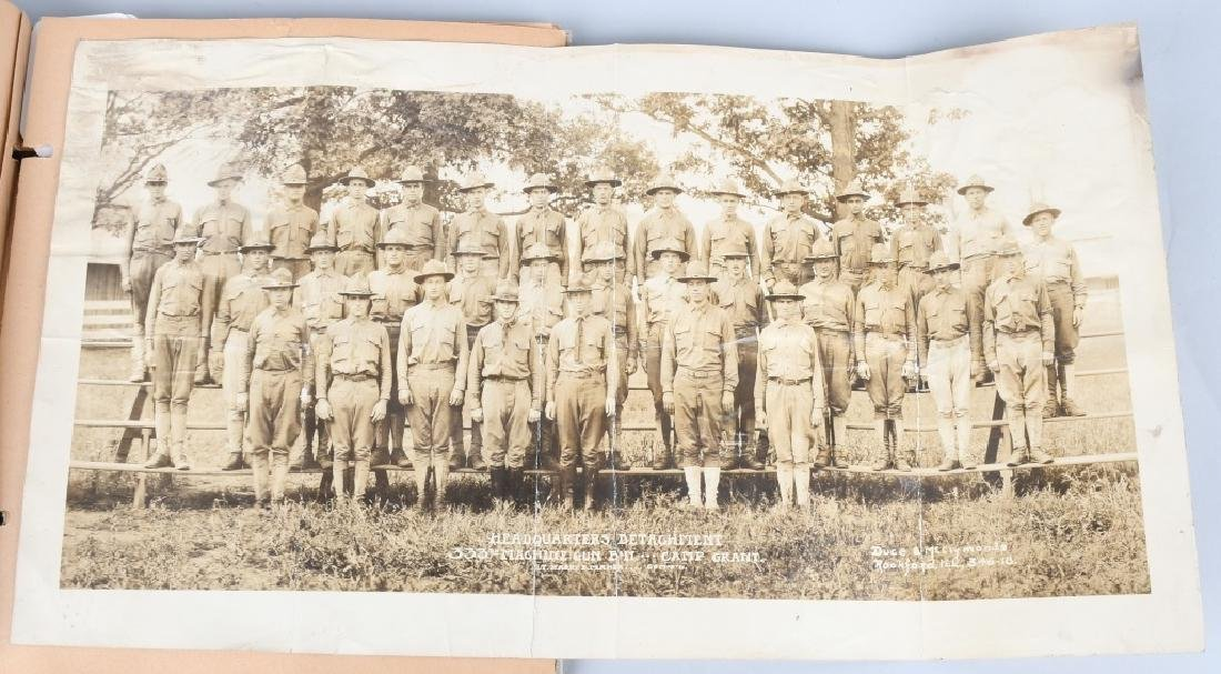 WWI 86TH DIV 333 MG BAT SCRAP BOOK YARD LONG - 9