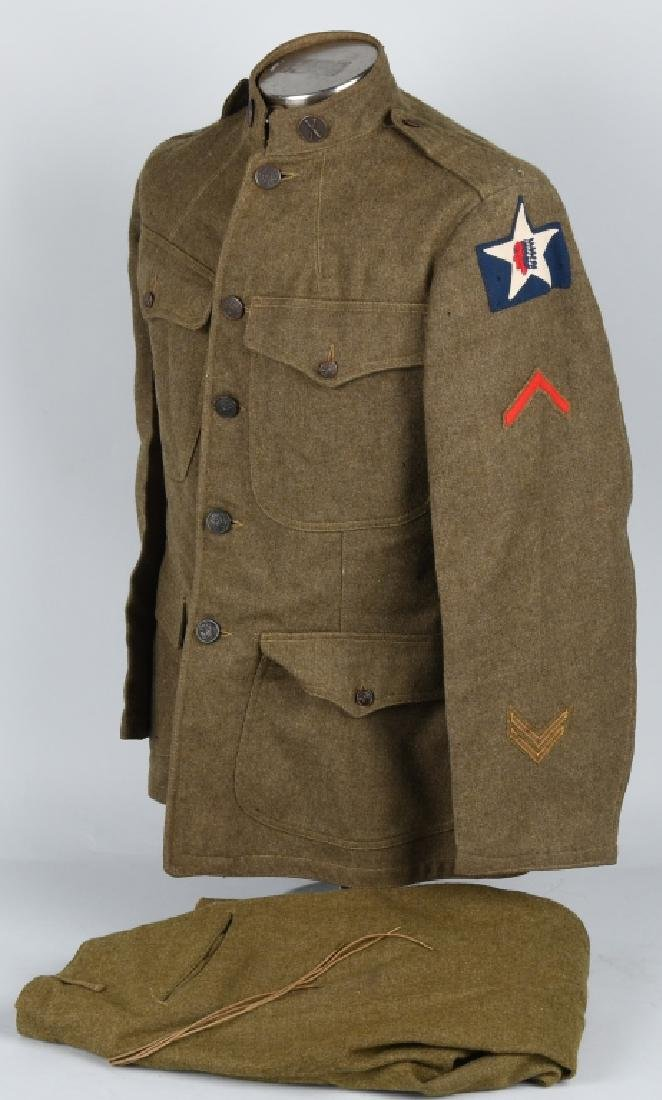 WWI U.S. 2ND DIVISION IDENTIFIED UNIFORM