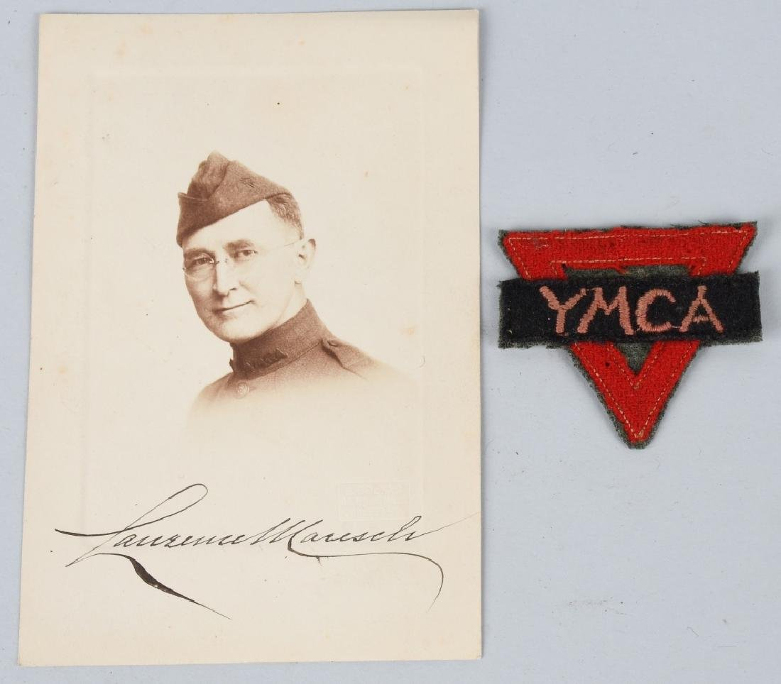 WWI U.S. RED CROSS IDED PATCH & PHOTO