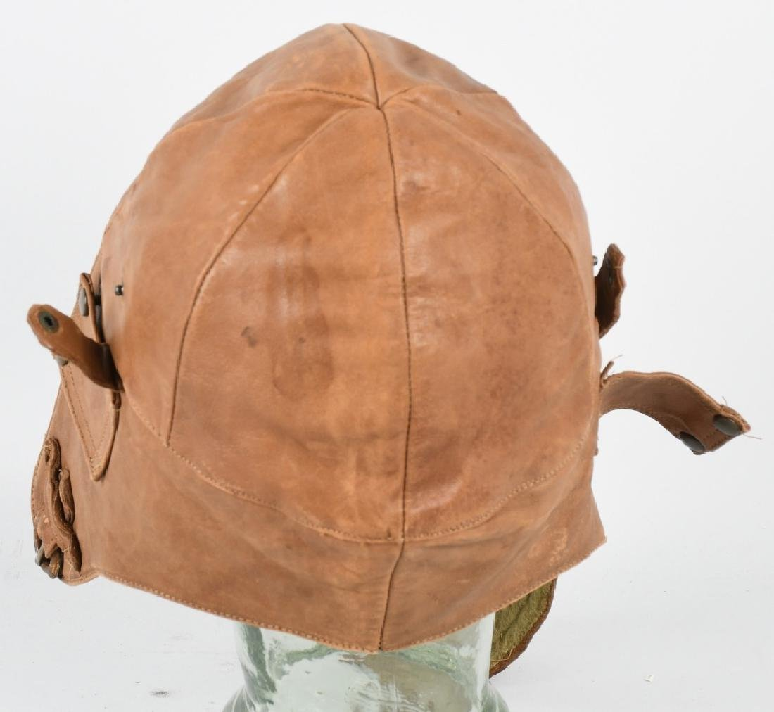 WWI - 1920S PILOT FLIGHT HELMET - 2