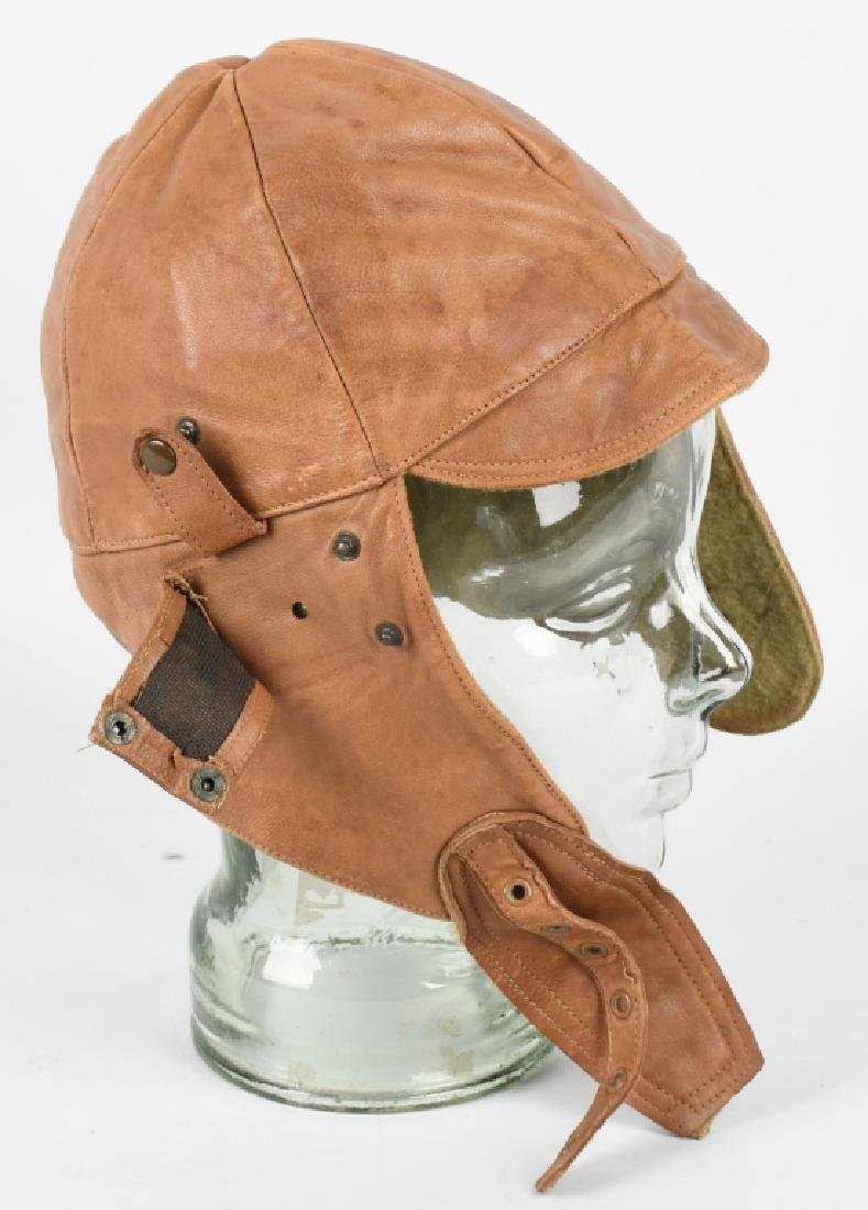 WWI - 1920S PILOT FLIGHT HELMET - 3